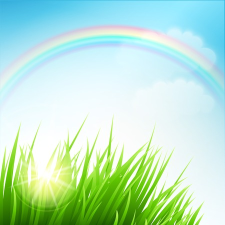 Illustration for Clean spring amazing scenery. Vector illustration EPS 10 - Royalty Free Image