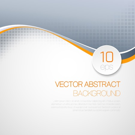 Ilustración de Vector abstract  wavy technical background. Brochure design - Imagen libre de derechos