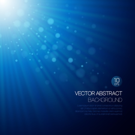 Illustration pour Vector blue abstract background with glowing rays - image libre de droit