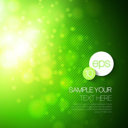 Illustration for Vector abstract technology background with green bokeh light - Royalty Free Image