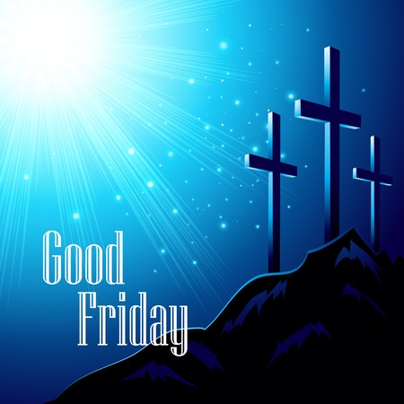 Illustration for Good Friday. Vector illustration with the image of Calvary - Royalty Free Image