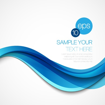 Ilustración de Abstract background with blue wave. Vector illustration - Imagen libre de derechos