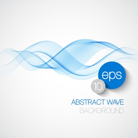 Ilustración de Wave smoke abstract background. Vector illustration  - Imagen libre de derechos