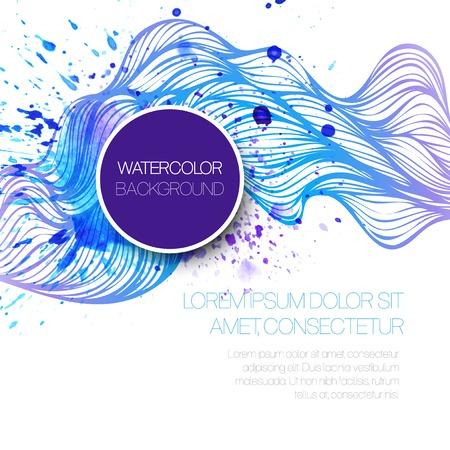 Ilustración de Watercolor wave background. Vector illustration  - Imagen libre de derechos