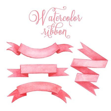 Ilustración de Watercolor tape. Set of vector banners. - Imagen libre de derechos