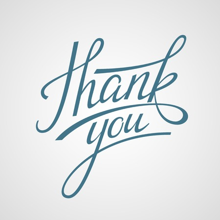 Ilustración de Hand Lettering Thank you. Vector illustration - Imagen libre de derechos