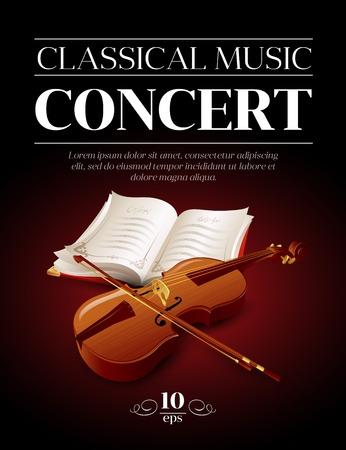 Ilustración de Poster of a classical music concert. Vector illustration - Imagen libre de derechos