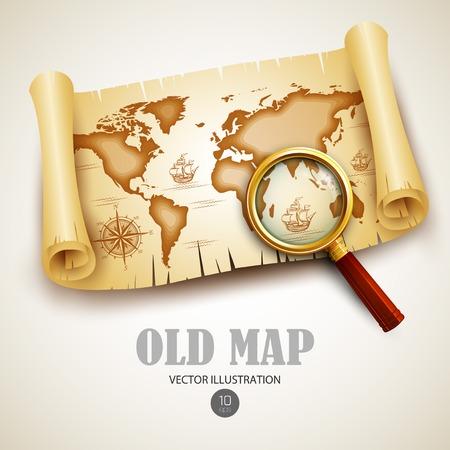 Illustration pour Old vintage map. Vector illustration  - image libre de droit