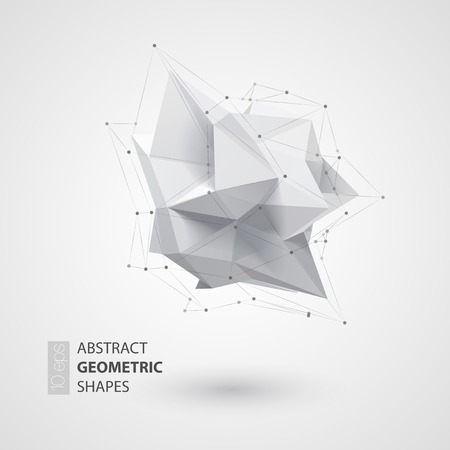 Illustration pour Low polygon geometry shape. Vector illustration EPS 10 - image libre de droit
