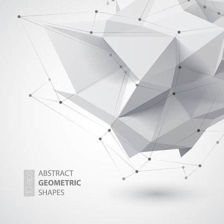 Foto per Low polygon geometry shape. Vector illustration  - Immagine Royalty Free