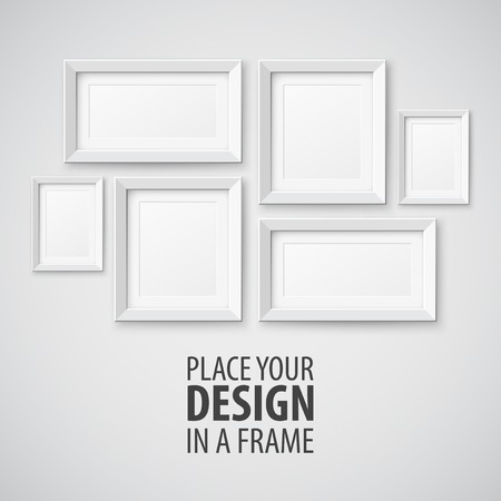 Illustration pour Vector Set of Picture Frame. Template for you design - image libre de droit