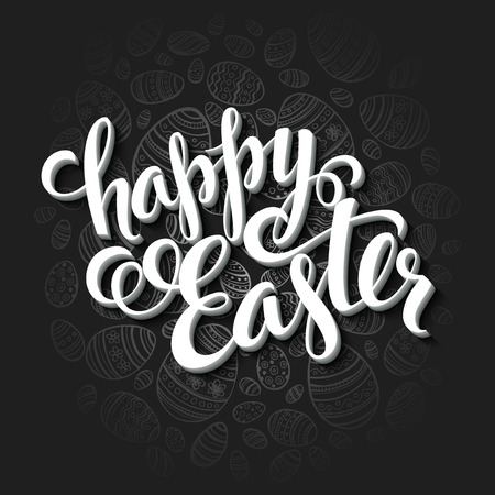 Illustration pour Easter greeting card. Holiday typography EPS 10 - image libre de droit