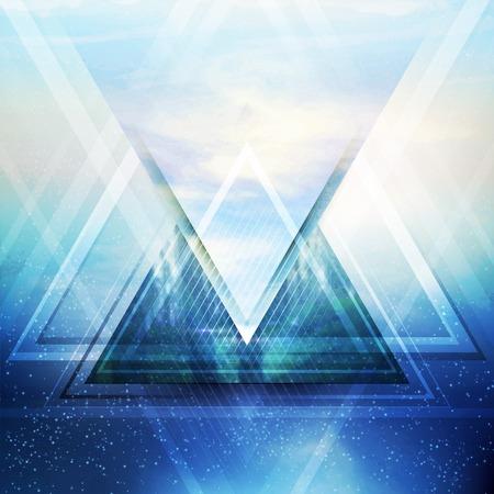 Illustration pour Abstract triangle future vector background  EPS 10 - image libre de droit