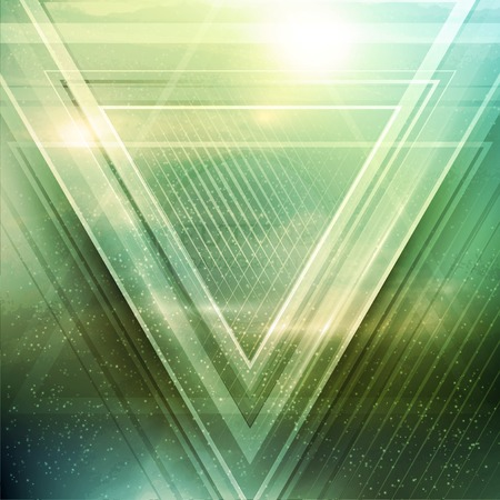 Illustration for Abstract triangle future vector background   - Royalty Free Image
