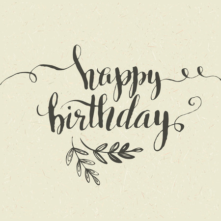 Illustration pour Happy Birthday Hand-drawn card. Vector illustration EPS 10 - image libre de droit