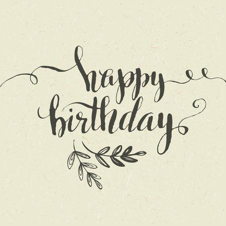 Happy Birthday Hand-drawn card. Vector illustration EPS 10