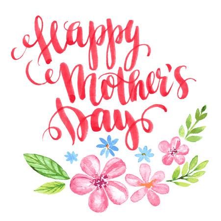 Illustration pour Happy Mothers Day. Hand-drawn card. Vector illustration EPS 10 - image libre de droit