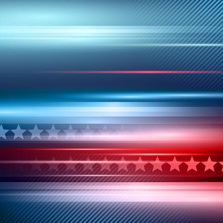 Illustration pour American Independence Day. - image libre de droit
