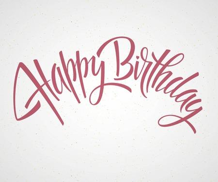 Ilustración de Vintage Happy Birthday Typographical Background EPS 10 - Imagen libre de derechos