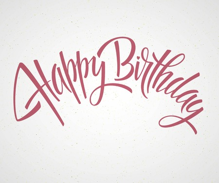 Vintage Happy Birthday Typographical Background EPS 10