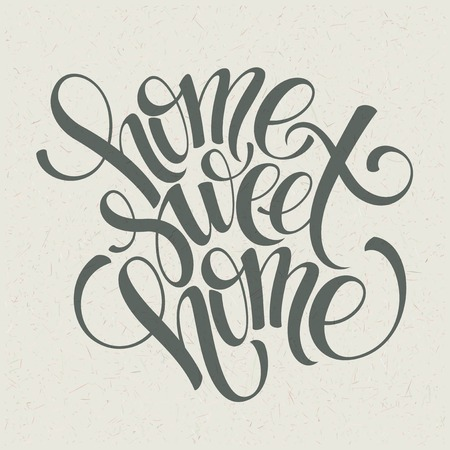 Illustration pour home sweet home hand lettering, vector illustration Eps 10 - image libre de droit