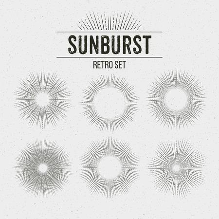 Illustration pour Set of Retro Sun burst shapes. Vector illustration  - image libre de droit