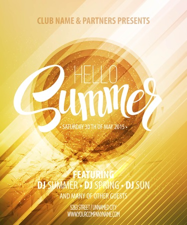 Illustration for Summer party. Template poster.  - Royalty Free Image