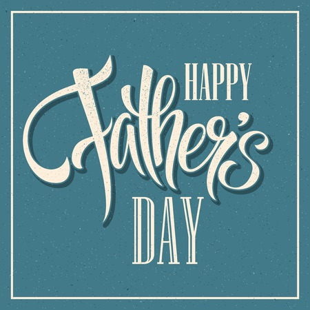 Illustration pour Happy Fathers Day. Hand lettering card.  - image libre de droit