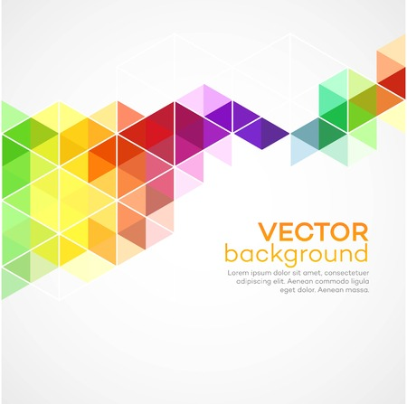 Illustration for Color geometric background with triangles.  - Royalty Free Image