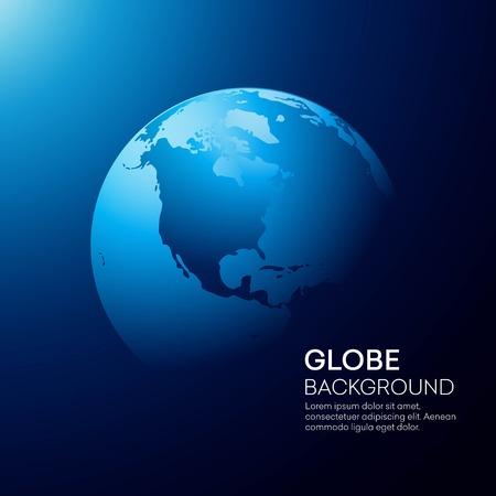 Illustration for Blue globe earth background. Vector illustration - Royalty Free Image