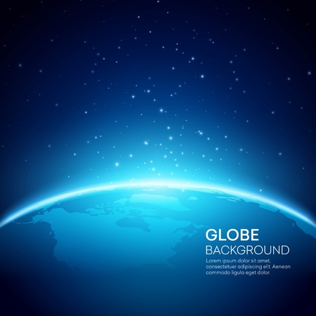 Ilustración de Blue globe earth background. Vector illustration  - Imagen libre de derechos
