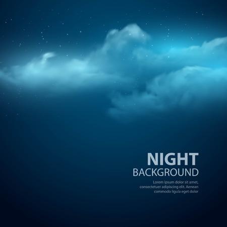 Ilustración de Night sky abstract background. Vector illustration  - Imagen libre de derechos