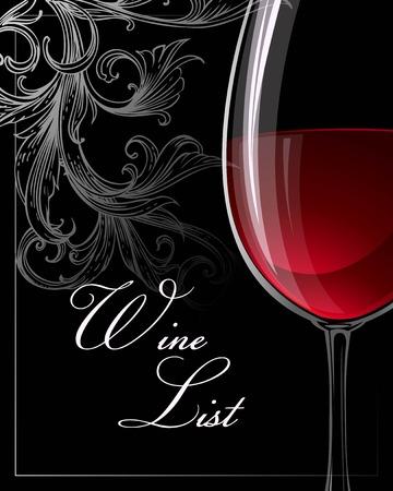 Illustration pour Template for wine list. Vector illustration EPS 10 - image libre de droit