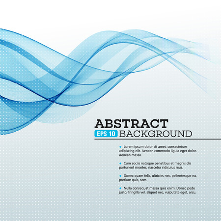 Illustration pour Blue Abstract waves background. Vector illustration EPS 10 - image libre de droit