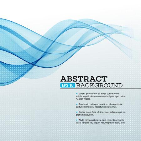Photo pour Blue Abstract waves background. Vector illustration EPS 10 - image libre de droit