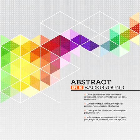 Ilustración de Color geometric background with triangles. Vector illustration EPS 10 - Imagen libre de derechos