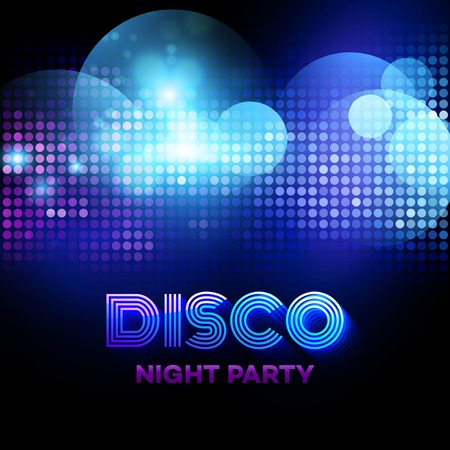 Illustration for Disco background with discoball. Vector illustration  - Royalty Free Image