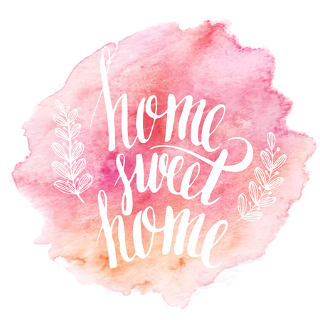 Illustration pour Home sweet home hand drawn inspiration lettering quote - image libre de droit