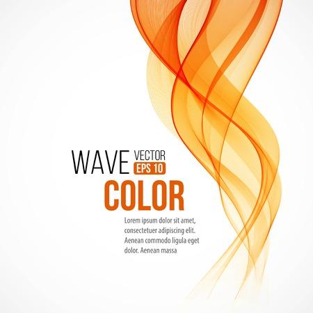Illustration pour Abstract arange wave design element - image libre de droit