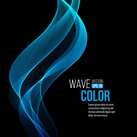 Photo pour Blue light wave background  - image libre de droit