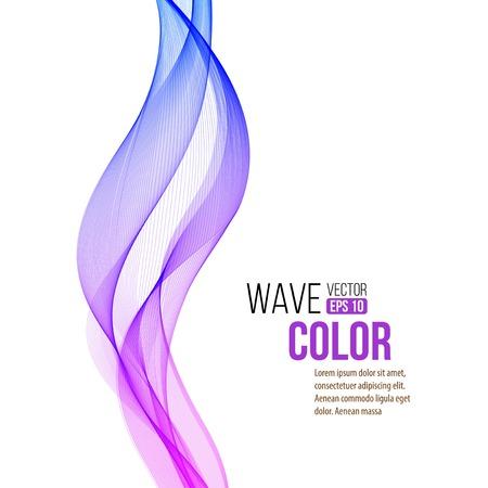 Ilustración de Abstract color curved lines background - Imagen libre de derechos