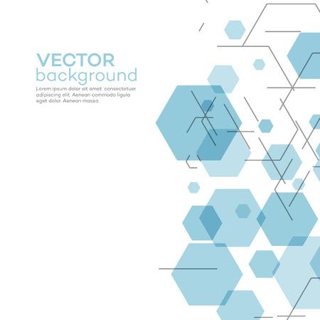 Ilustración de Abstract background with hexagons - Imagen libre de derechos