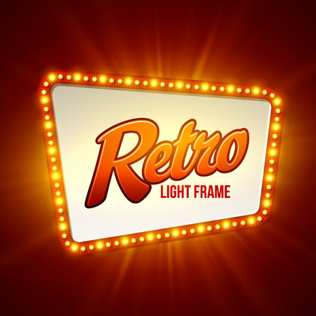 Illustration pour Shining retro light banner.  Vector illustration  - image libre de droit