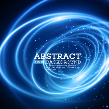 Ilustración de Abstract Blue Lights Effect Background.  - Imagen libre de derechos
