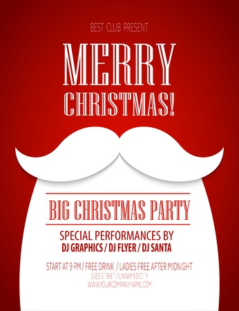 Illustration pour Christmas party poster - image libre de droit