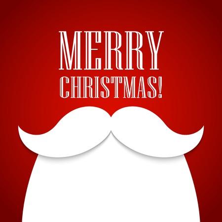 Illustration pour Christmas card with a beard and mustache Santa Claus - image libre de droit