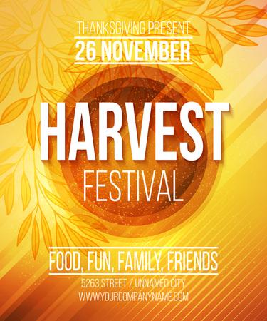 Illustration pour Harvest Festival Poster. Vector illustration  - image libre de droit