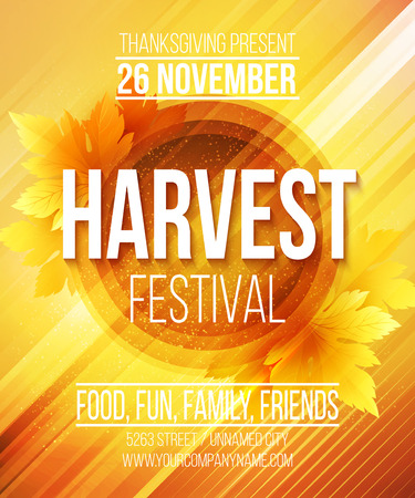 Harvest Festival Poster. Vector illustration EPS 10