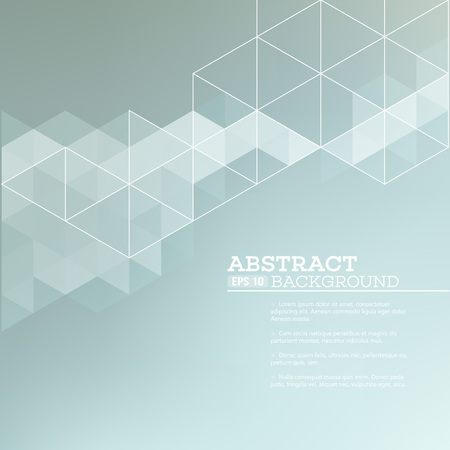 Illustration pour Abstract blurred background with   triangles.  Vector illustration EPS 10 - image libre de droit