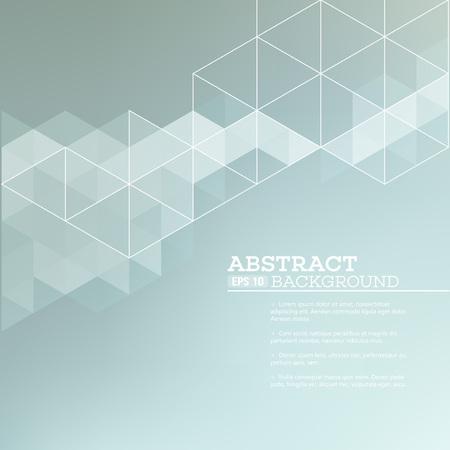 Ilustración de Abstract blurred background with   triangles.  Vector illustration EPS 10 - Imagen libre de derechos